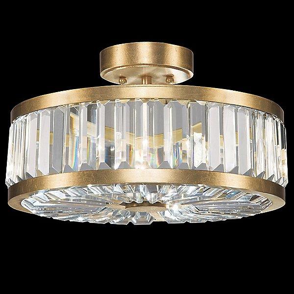 Crystal Enchantment Round Semi-Flush Mount Ceiling Light