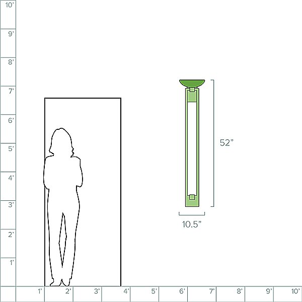 Delphi Tall LED Wall Sconce