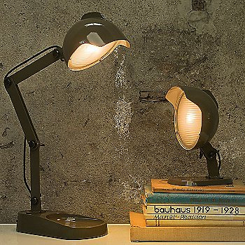 Shown lit with Duii Table Lamp in Grey finish