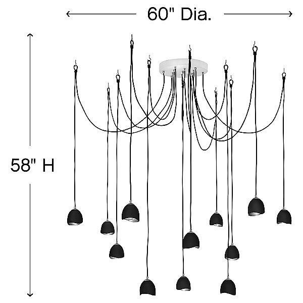 Nula Multi-Light Pendant Light