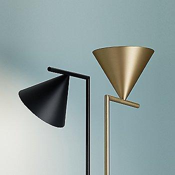 Brass / Black finish