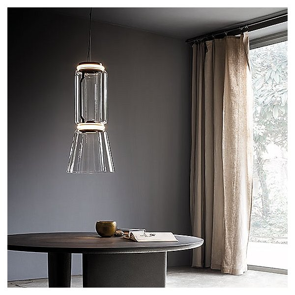 Noctambule Low Cylinder and Cone LED Pendant Light