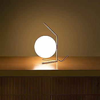 Brass finish / in use / Illuminated
