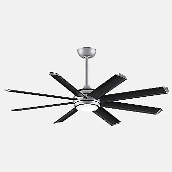 Silver with Black Blades finish / 56 inch size