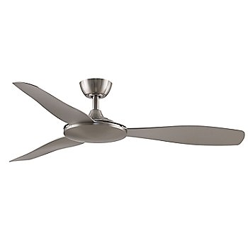 Brushed Nickel Fan Body with Brushed Nickel Blades finish