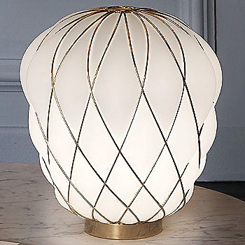 Gold with White Glass finish / Small size