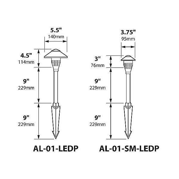Aluminum China Hat Panel LED Area Light