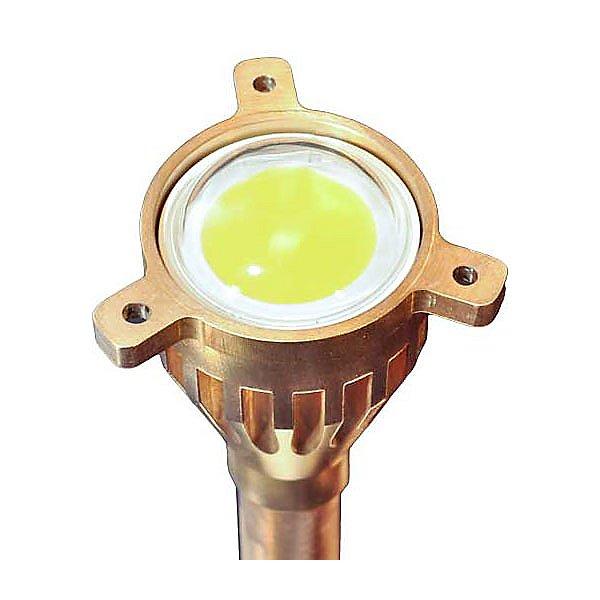 Brass China Hat Panel LED Area Light