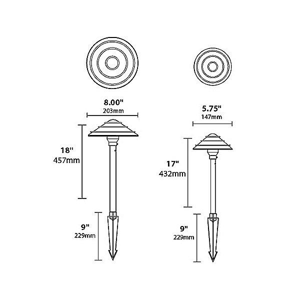 Aluminum Saturn Rings Hat Area Light