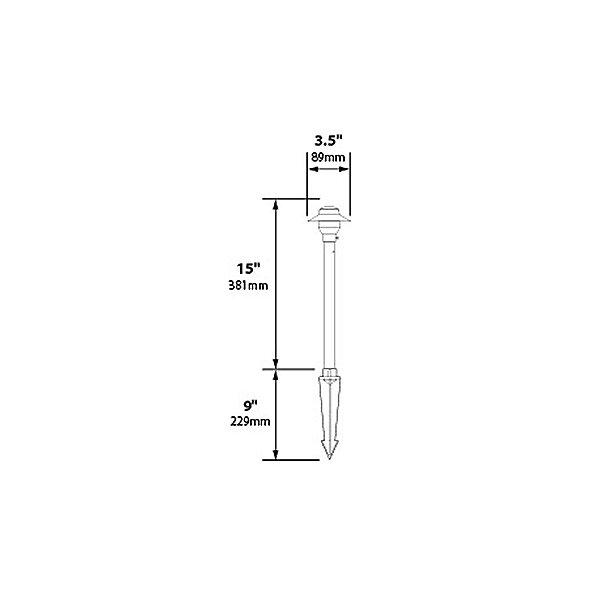 Stainless Steel 3.5 Inch Area Light
