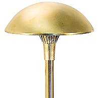Brass Panel 8 Inch LED Mushroom Area Light