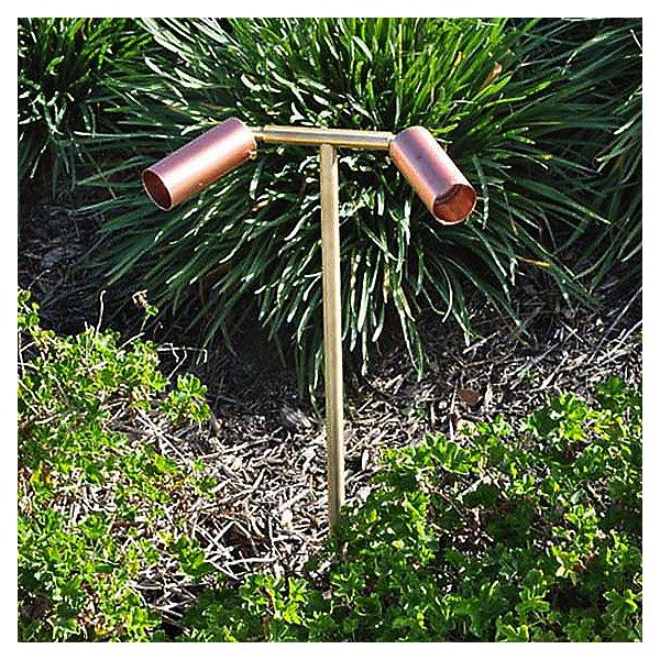 Copper Two Head Path Light