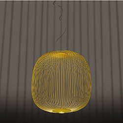 Spokes 2 Round LED Pendant Light (Yellow/78 inch) - OPEN BOX RETURN