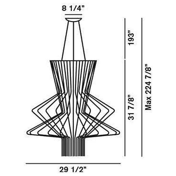 Allegro Ritmico LED Suspension Light