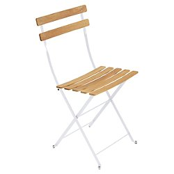 Bistro Folding Naturel Chair Set of 2