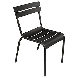 Luxembourg Stacking Side Chair Set of 2 (Liquorice)-OPEN BOX