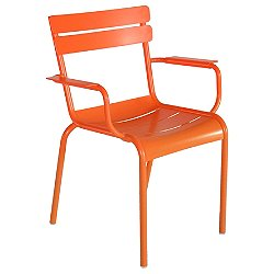 Luxembourg Stacking Armchair Set of 2 (Carrot Flat Satin) - OPEN BOX RETURN