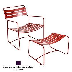 Surprising Low Chair with Footrest (Aubergine Matte Textured) - OPEN BOX RETURN