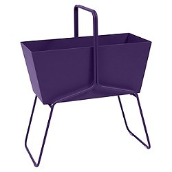 Basket High Planter (Aubergine Matte Textured) - OPEN BOX RETURN