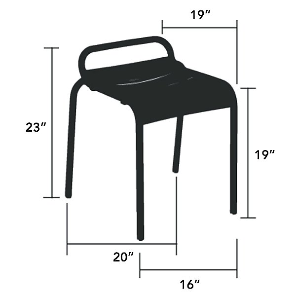 Luxembourg Stool Set of 2