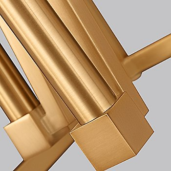 Shown in Gilded Satin Brass finish