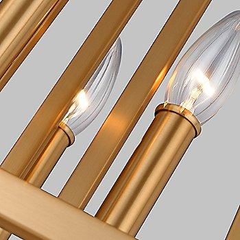 Shown in Gilded Satin Brass finish