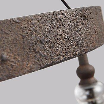 Dark Weathered Iron finish, detail