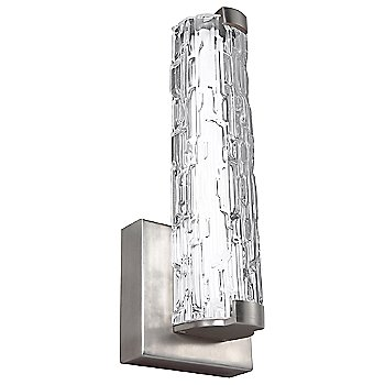 Clear Staggered Rock Glass Texture / Satin Nickel finish