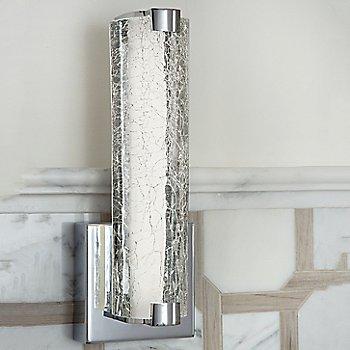Clear Crackle Glass Texture / Chrome finish