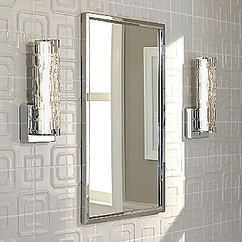Clear Staggered Rock Glass Texture / Chrome finish