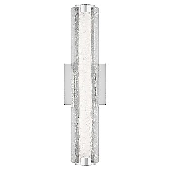 Shown in Clear Crackle Glass shade, Chrome finish