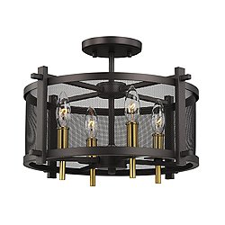 Palmyra Semi-Flush Mount Ceiling Light