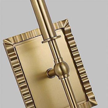 Burnished Brass finish, detail