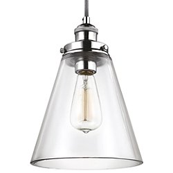 Baskin Cone Nickel Pendant Light
