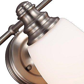 Satin Nickel finish, detail, lit