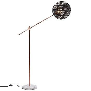 Copper with Black finish / Medium size / Diamond Pattern / illuminated