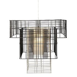 Mesh Cubic Tall Chandelier