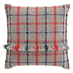 Garden Layers Outdoor Tartan Big Pillow