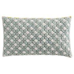 Silai Pillow by Gan Rugs(Celadon-Light Grey)-OPEN BOX RETURN