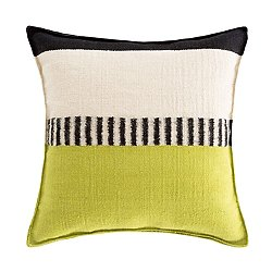 Rustic Chic Geo Square Pillow, Pistachio