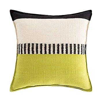Rustic Chic Geo Square Pillow, Pistachio
