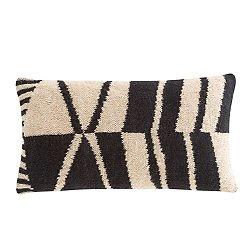 Rustic Chic Geo Lumbar Pillow, Black and White