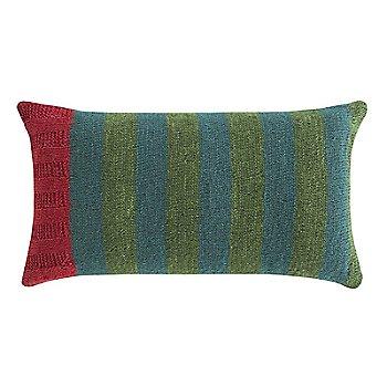 Rustic Chic Flower Lumbar Pillow, Green
