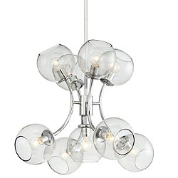 Exposed 9 Light Chandelier