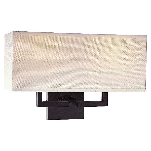 Fabric Wide LED Wall Sconce