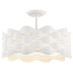 Coastal Current LED Semi-Flush Mount Ceiling Light