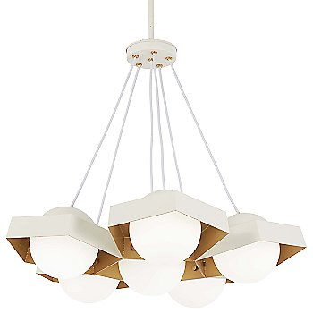 Textured White Exterior / Gold Leaf Interior finish