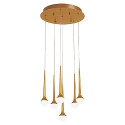 Honey Drip LED Multi-Light Pendant Light