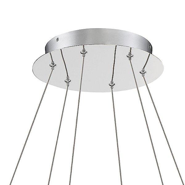 Silver Slice LED Chandelier