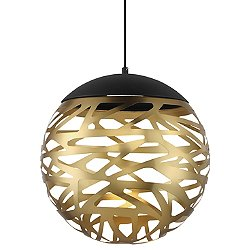 Golden Eclipse LED Pendant Light